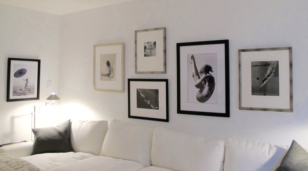 Elegant installation of client photography collection
