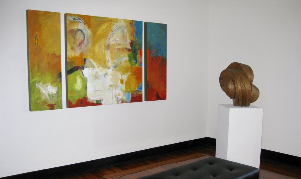 Audrey Phillips painting with Charles Parkhill sculpture in central Florida law firm
