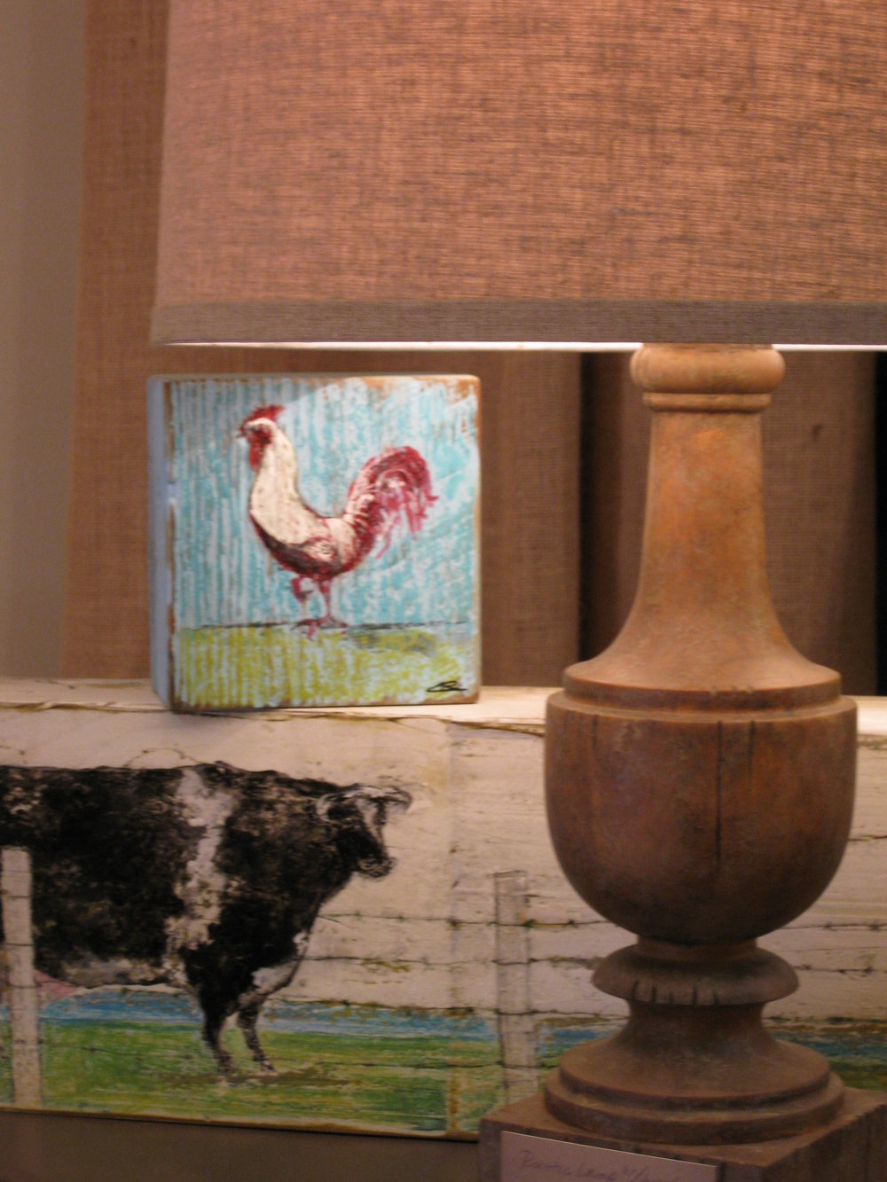 Wood block pieces by Charlie Schiller, selected for art installation at Marketplace Interiors, Tampa.