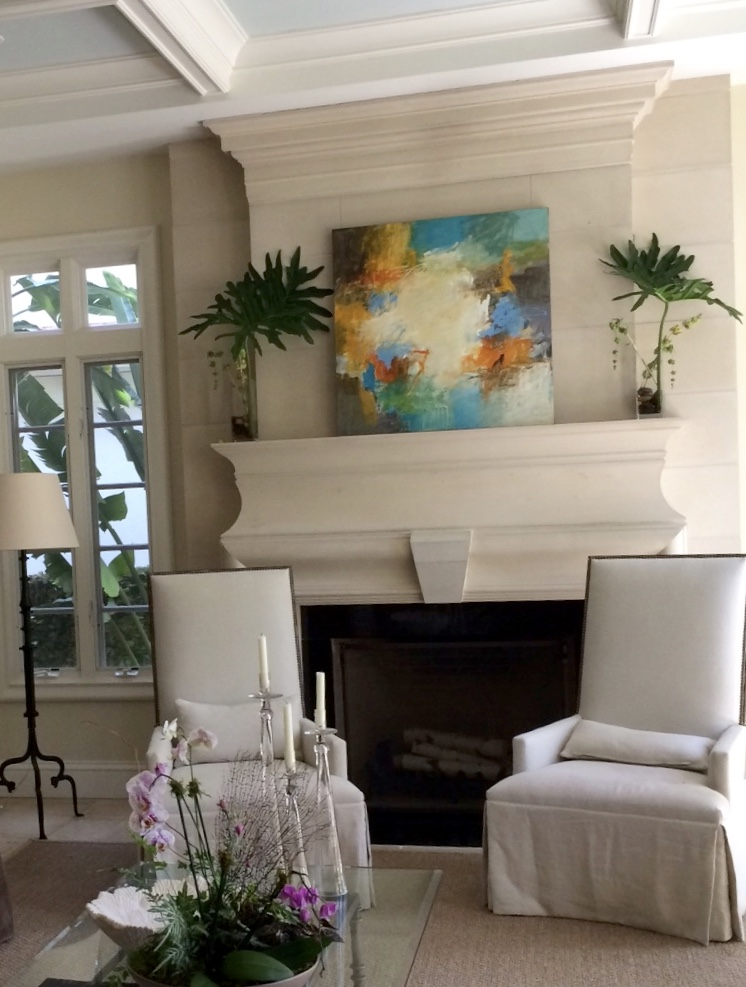 Audrey Phillips in client home from collection of Baisden Gallery