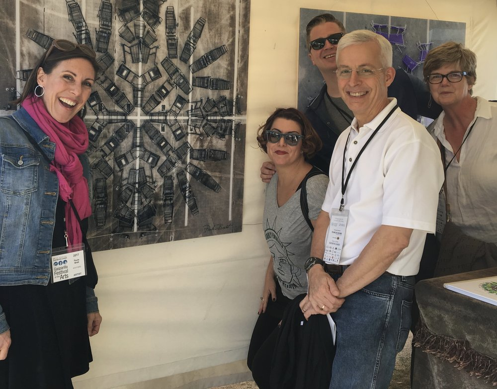 A 2017 Gasparilla Art selection, photography by Paula Brett (on left), chosen by some members of the SLK Art Committee (Erin Aebel, Tim Garding, me, and Tom Wood, who joined us).