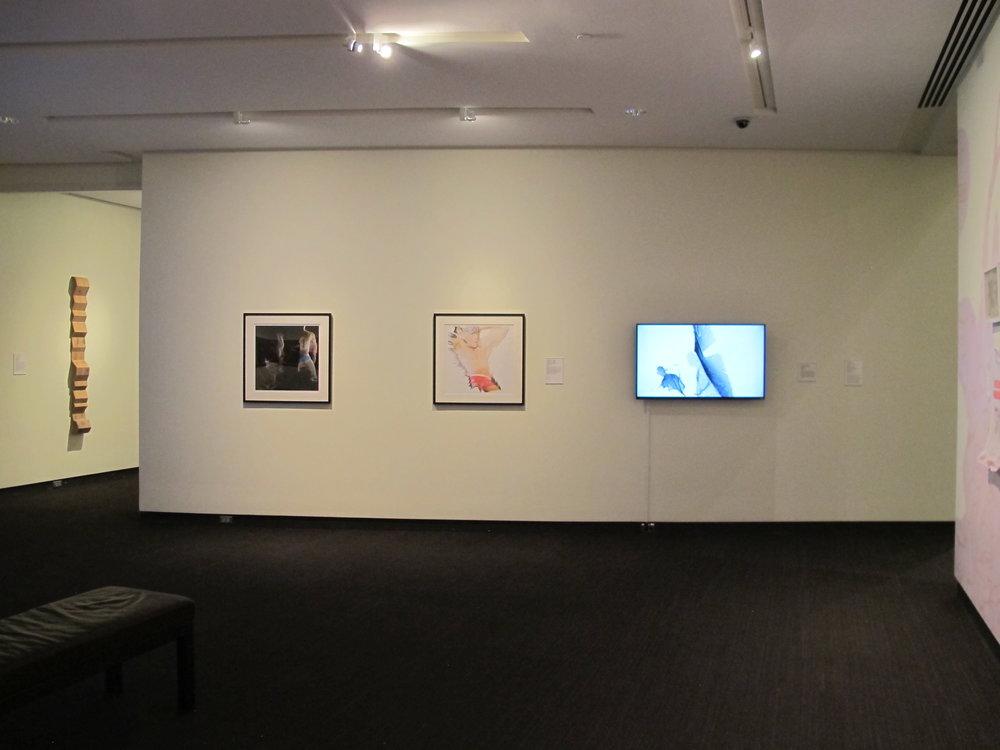 MFA 4 | Santiago Echeverry wall (video; 2 framed video stills)