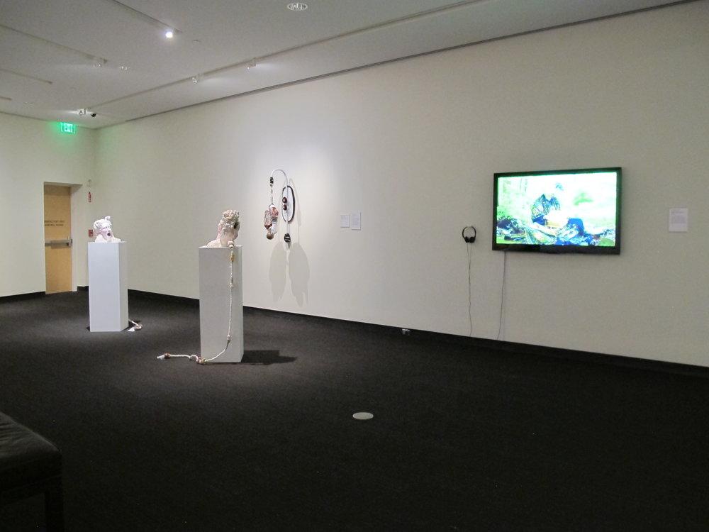 MFA 8 | Chasity Williams wall installation; Bahareh Khoshooee, video