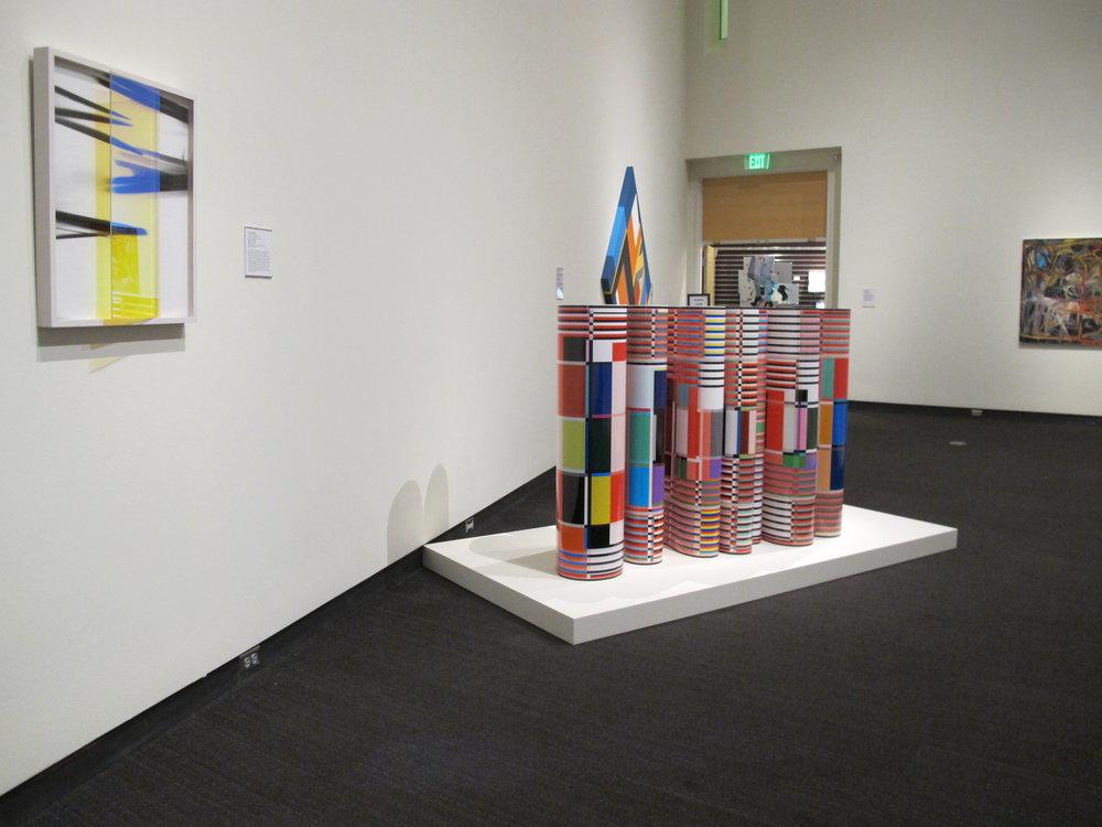MFA 10 | Pat Blocher, floor piece; 2 framed wall pieces