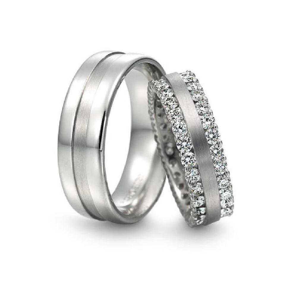 Matching Wedding Bands With Diamonds