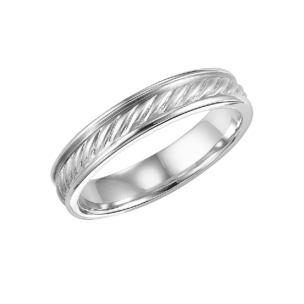 mens wedding band in rope twist design