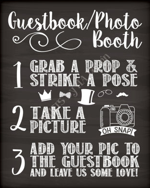 Photo Guest Book Sign by PRINTSbyMAdesign available on Etsy