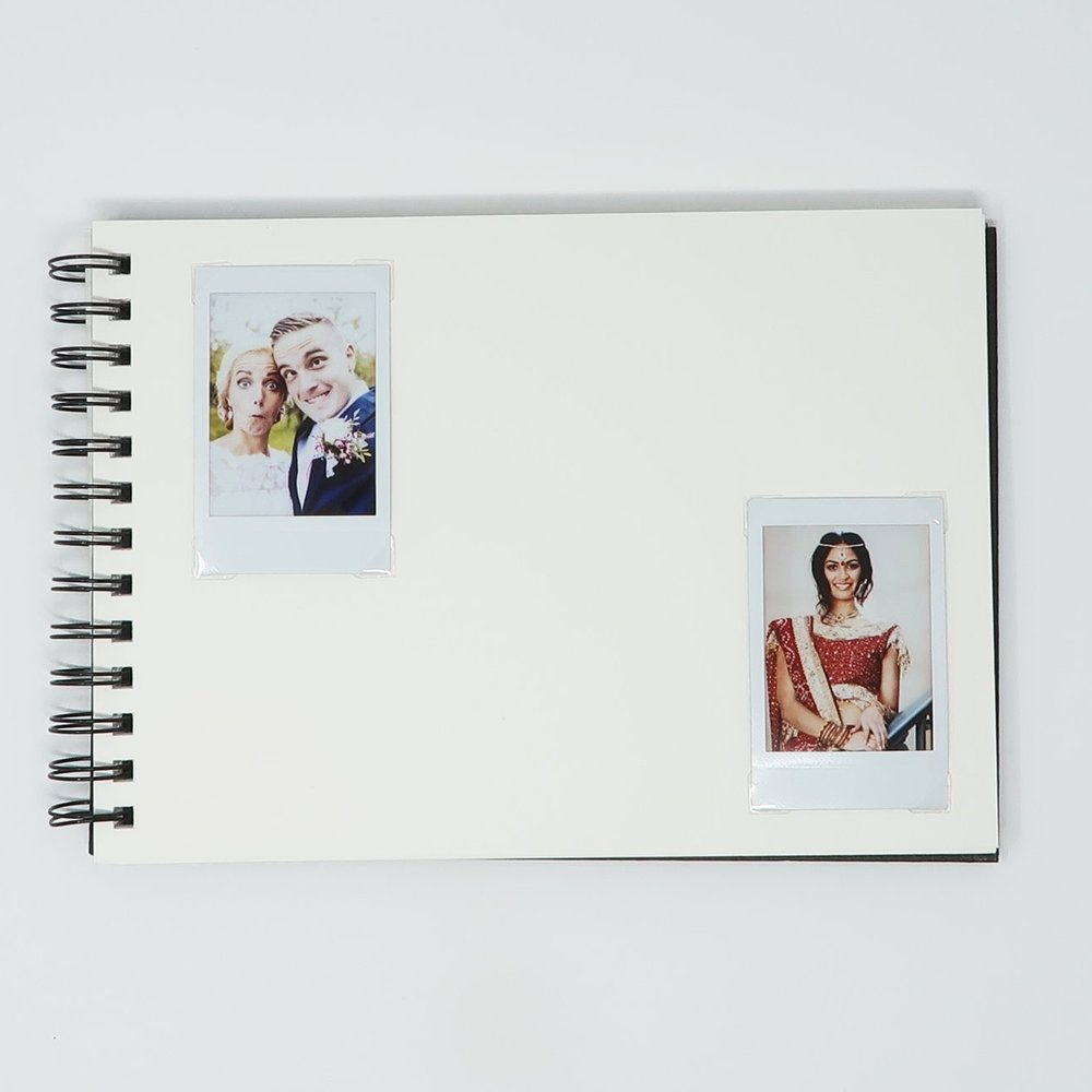 InstantCameraRental Guest Book 10%22 x 7%22 - Two Photo Per Page Diagonal.JPG
