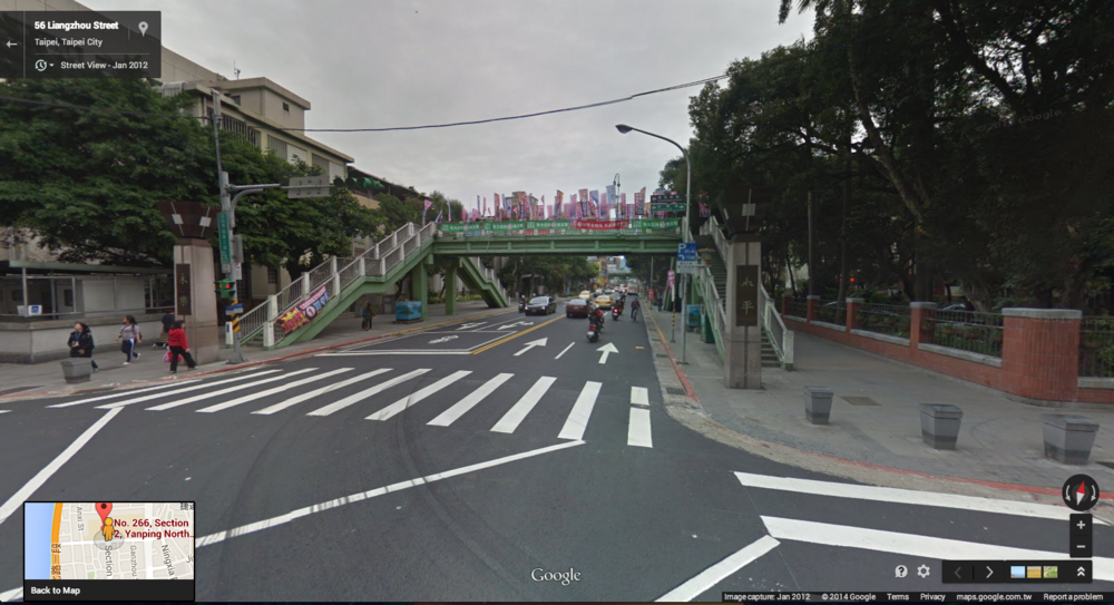 Liangzhou/Yanping, looking north. Via Google Street View