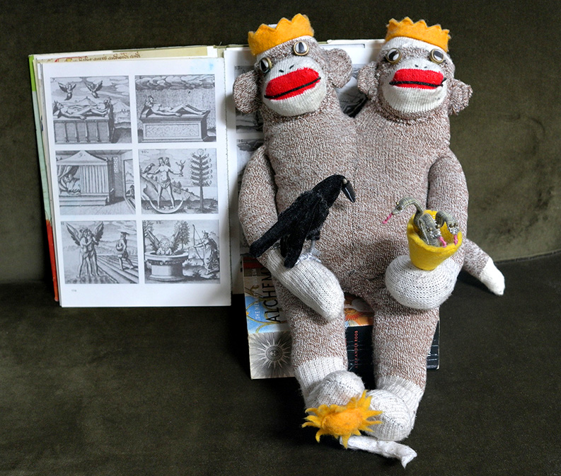 Alchemical Hermaphrodite Sock Monkey (2007)