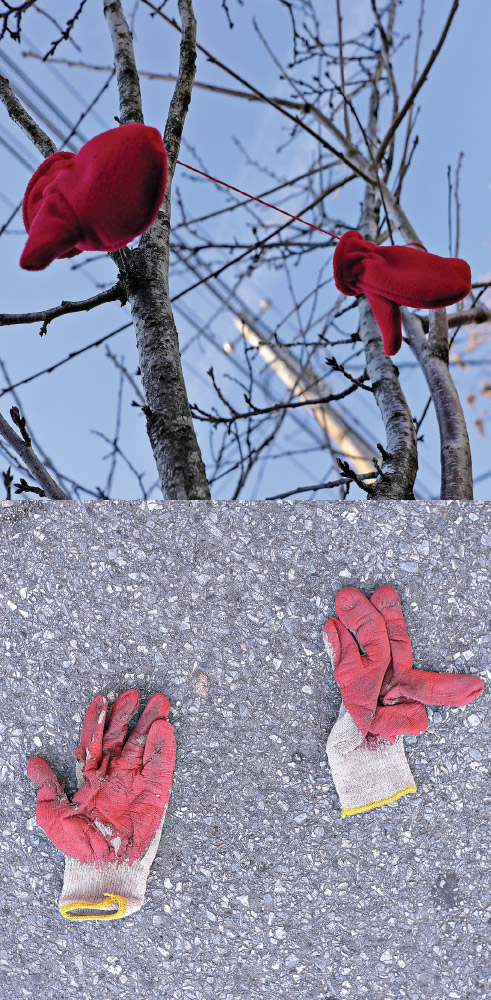 As Above, So Below   Red gloves outside my home