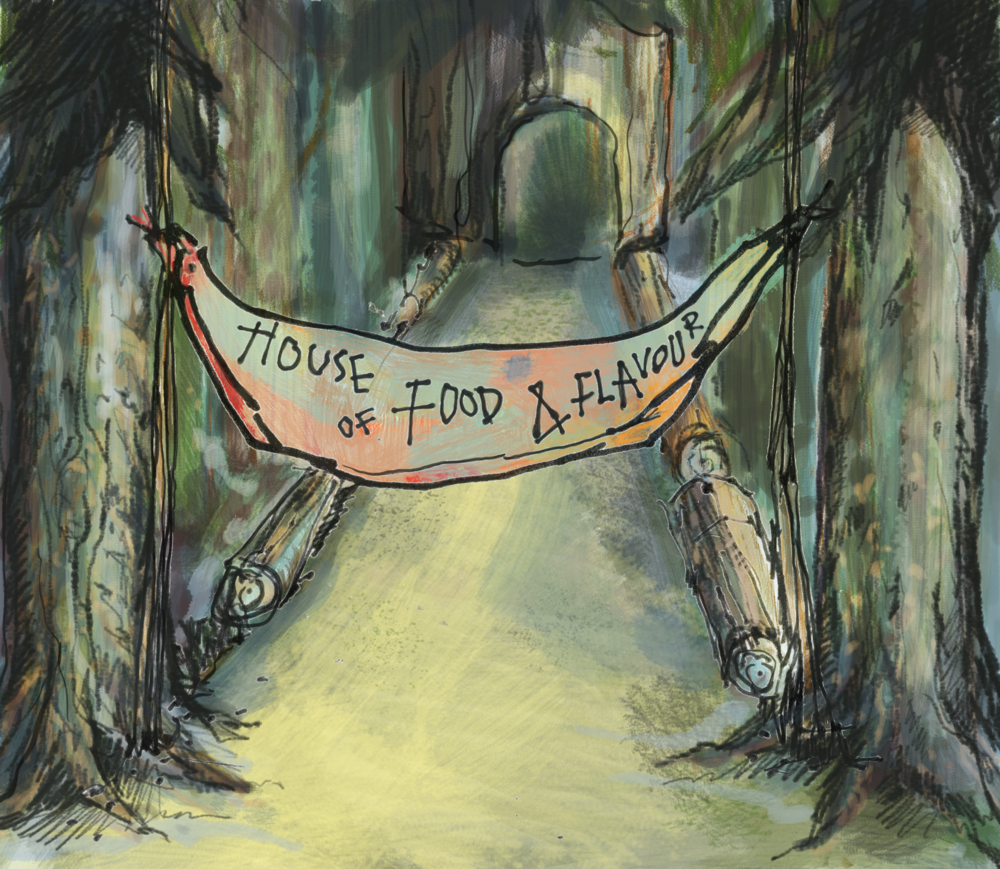 House of Food And Flavour - Illustration of Entrance