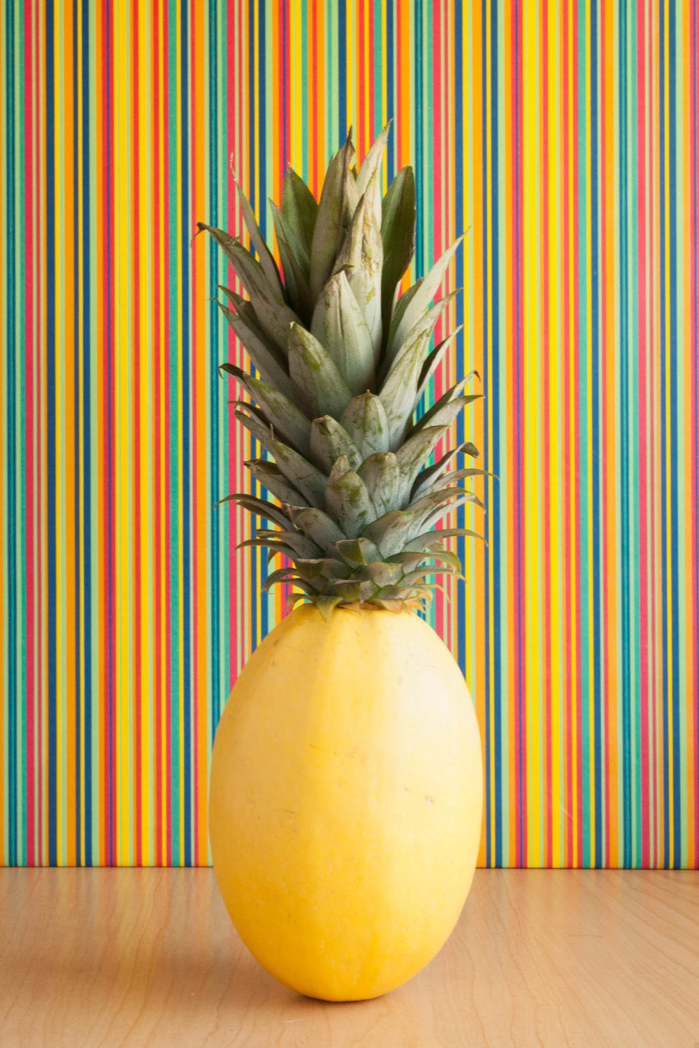 Prank Pineapple with Striped Background
