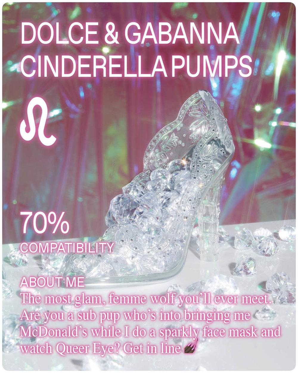 Dolce and Gabbana Cinderella Shoe Slipper with Diamonds