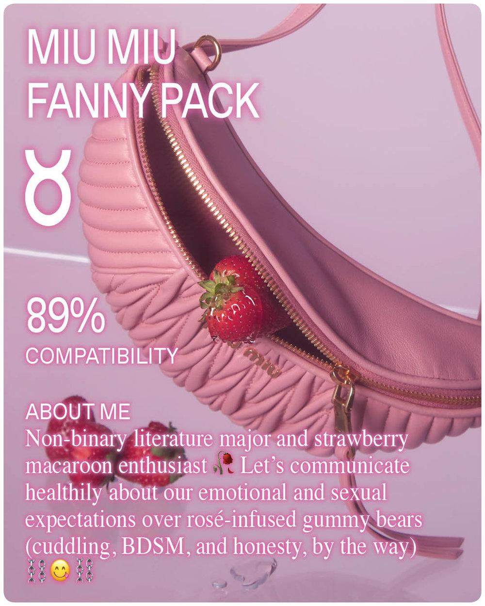 Pink Miu Miu Bag on Pink Background