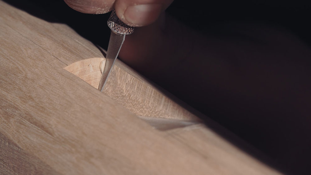 For all the fine cutting work I use a scalpel with ready sharpened blades.Works nice ,smooth and acurate.