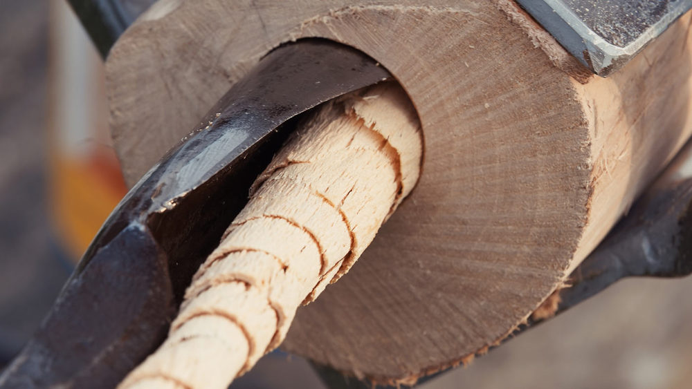 Though I use many types of wood, hard Elder trunks are most common for Fujara. Hand-forged hand drill in action here.
