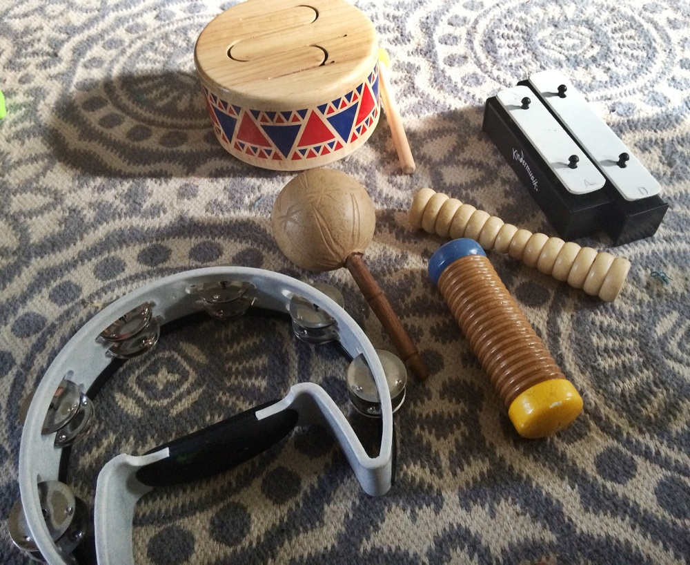 Some of the boys' favorite instruments.