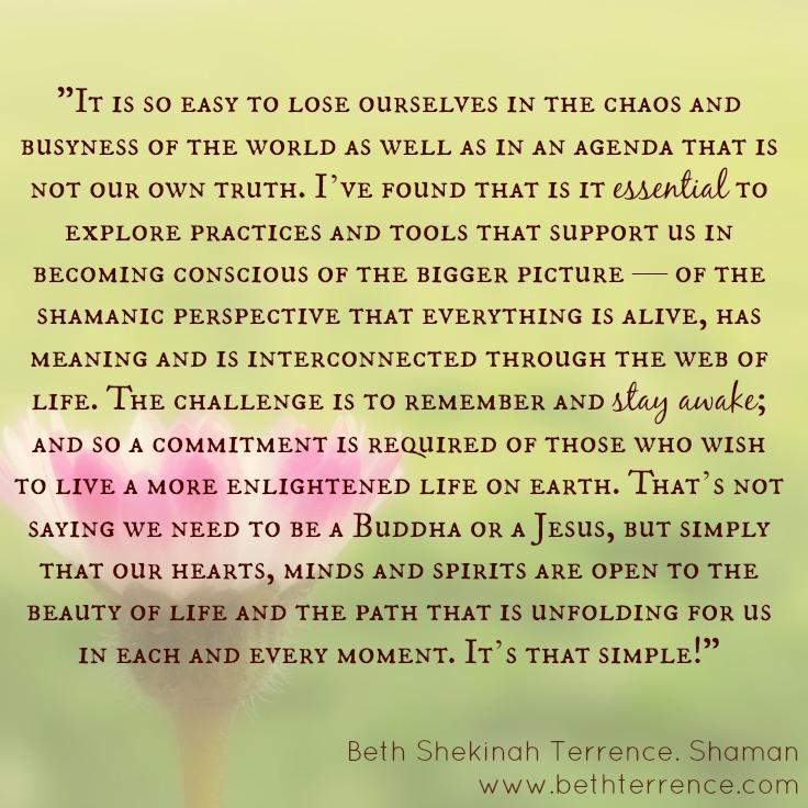 It's that simple!Beth Shekinah Terrence, Shaman,Maryland/Washington, DC area