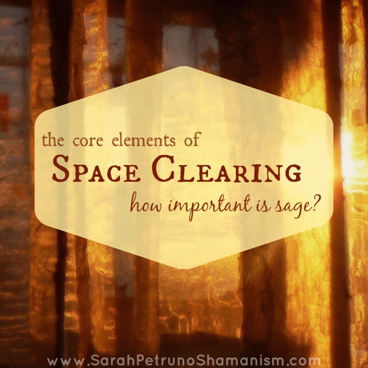 The key components to a space clearing - is sage essential?