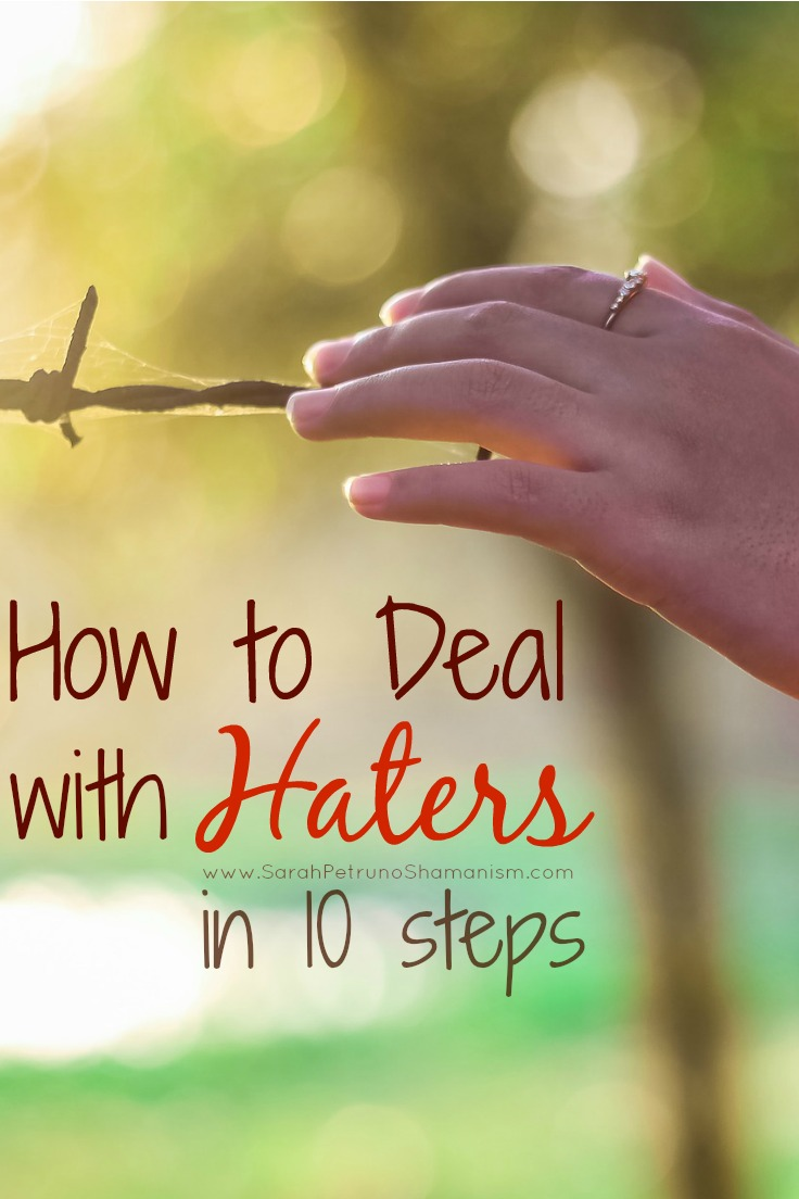 Got haters? Need a coping strategy to process it and move on gracefully? In 10 steps, learn how to deal with haters and move on with your life.