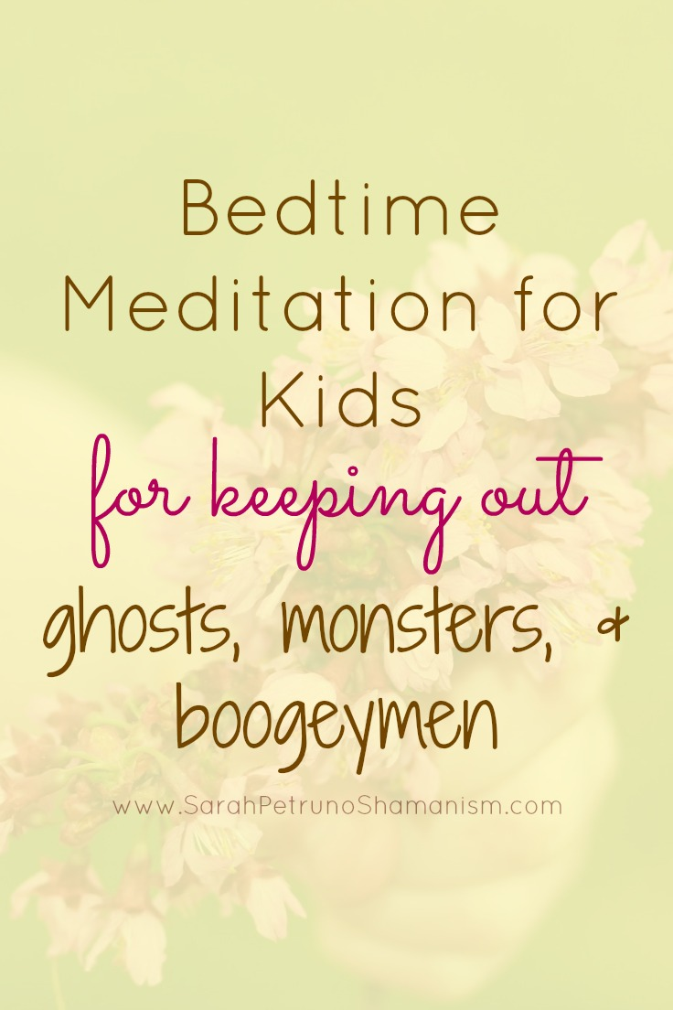 Does your child struggle going to sleep for fear of the monsters, boogeymen, or ghosts in their room? Use this quick and simple meditation to put that to rest tonight!