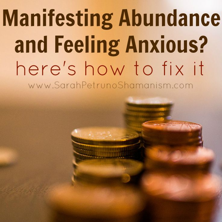 How to fix the feelings of anxiety and worry that often come when you're trying to manifest abundance. Erase, reset, and get on your way!