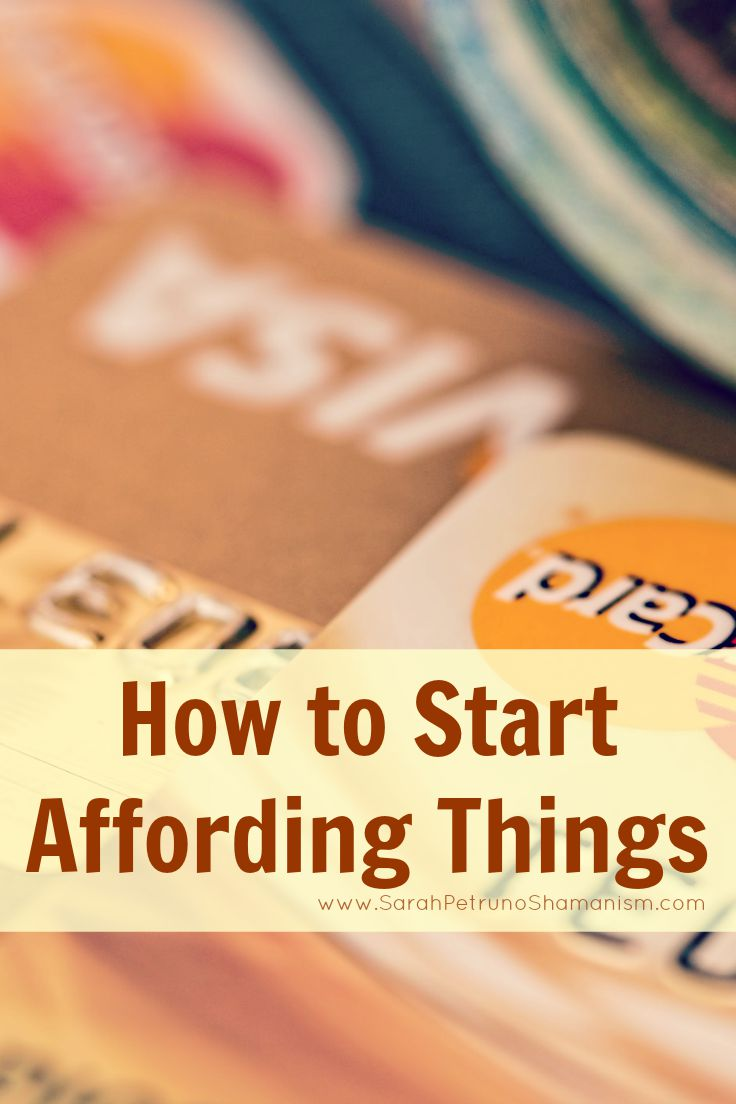 Break the cycle of broke and start the process of actually affording the things you want.