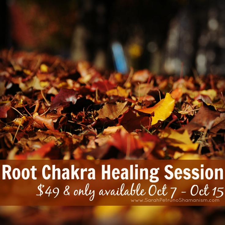 Limited time only Root Chakra Healing Session - $49 - Available ONLY until October 15th, 2015.