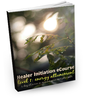 The Healer Initiation Level 1 eCourse is a 5 day, online, intensive eCourse in energy attunement for opening and awakening the energetic portion of your healing gifts. Learn more and sign up!