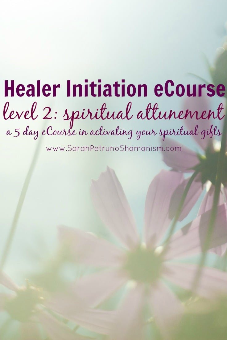 The Healer Initiation Level 2 eCourse is a 5 day, online, intensive eCourse in spiritual attunement for opening and awakening your spiritual centers and psychic abilities. Learn more and sign up!