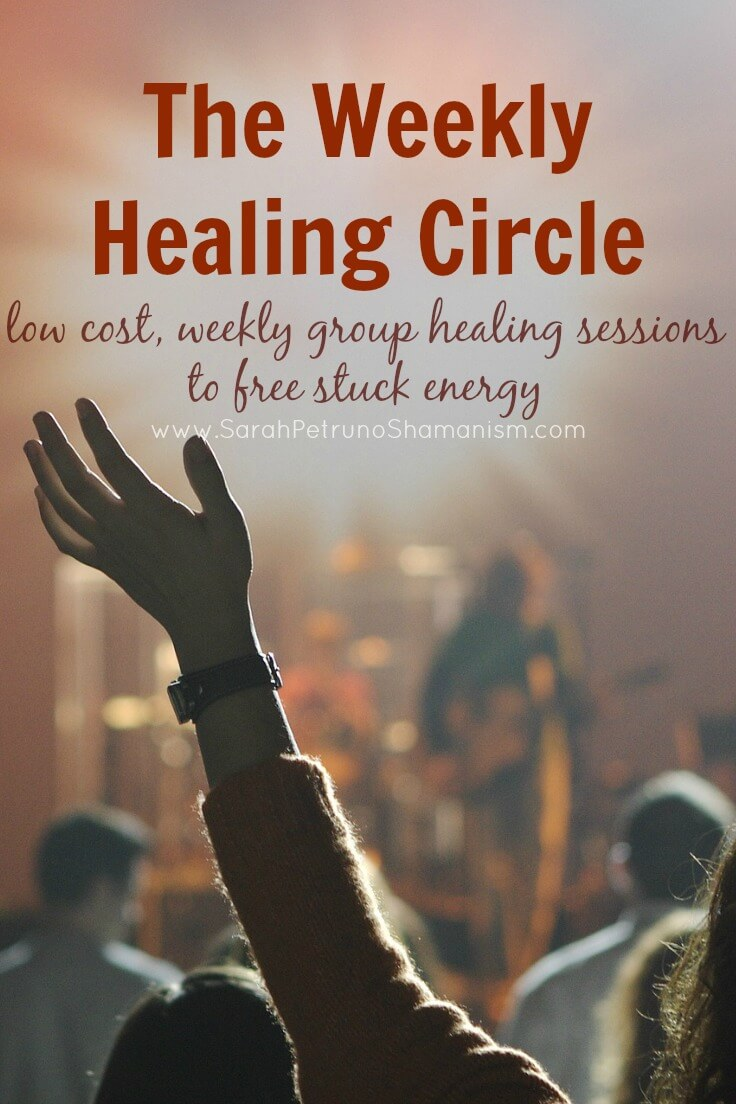 Low cost weekly group healing sessions to help you remove negative, stuck, and low energy, improving your overall health and well-being
