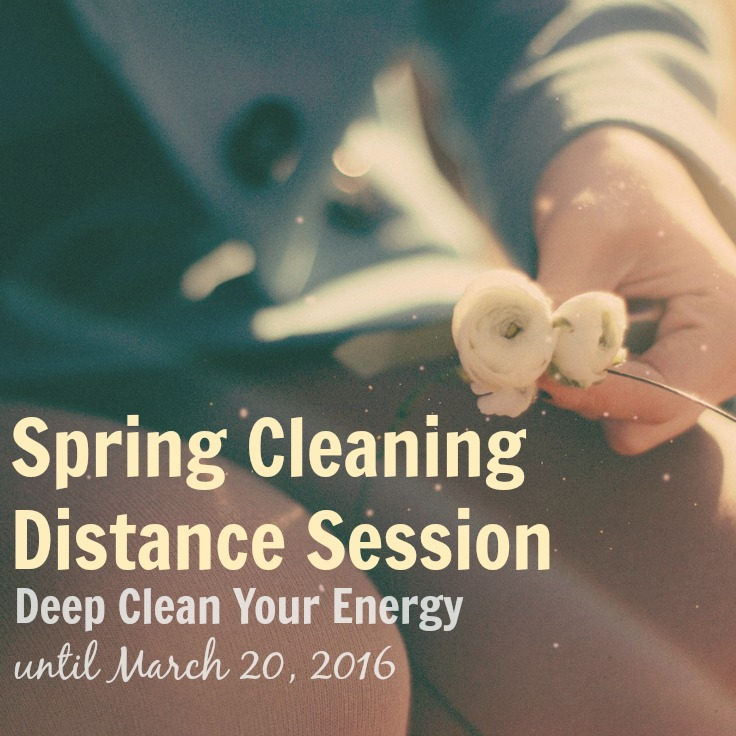 Spring Cleaning Distance Healing Sessions - offered by Sarah Petruno Shamana until March 20, 2016