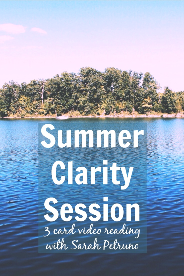 Summer Intuitive Video Readings - ask a question of your guides, and let Sarah pull cards for you to deliver their insight and direction to you.