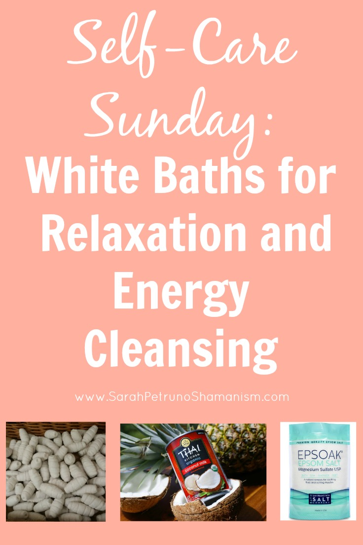 Learn how to take a White Bath using epsom salt, coconut milk, and efun to clear your energy, raise your vibration, and relax!