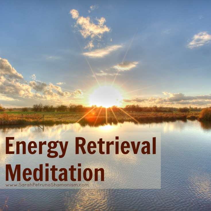 Guided audio meditation for calling back and retrieving your energy by Sarah Petruno, Shamana