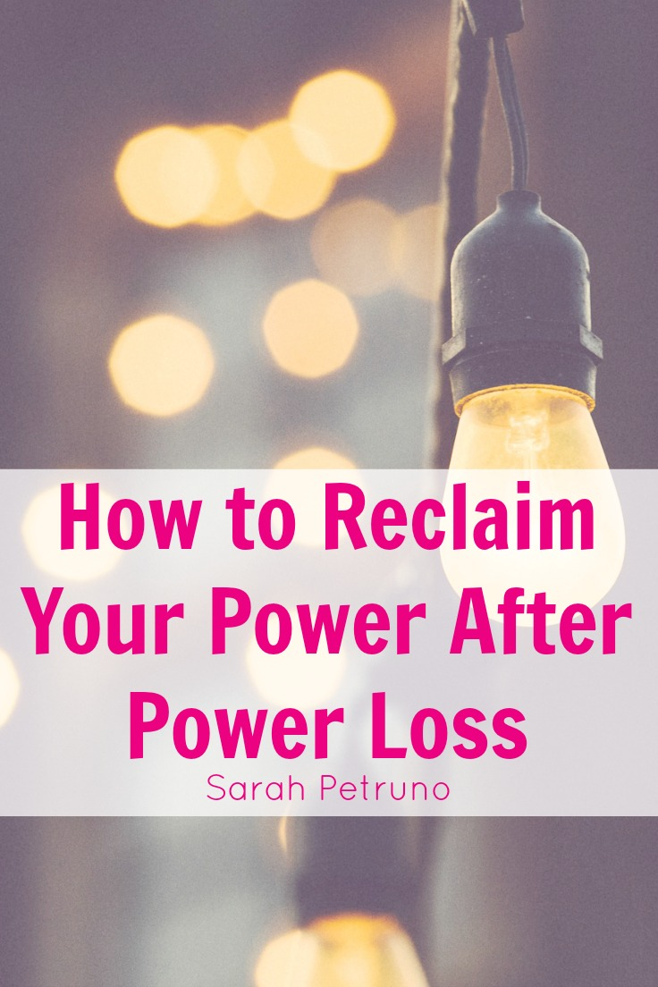 Part 3 of 5 in the instructive, healing series on power loss. In this post, we discuss how to reclaim your power after experiencing a loss of power.