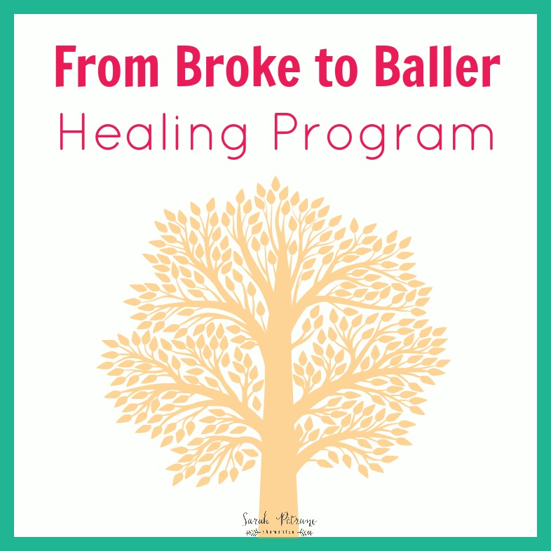 From Broke to Baller - Healing Program with a Classroom Community, designed to heal your relationship with money. 3 modules and 21 lessons with exercises, prompts, and guided visualizations dig up, rewrite, and create a new way of receiving money.