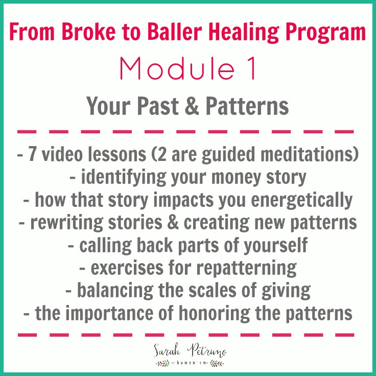 From Broke to Baller Healing Program Module 1