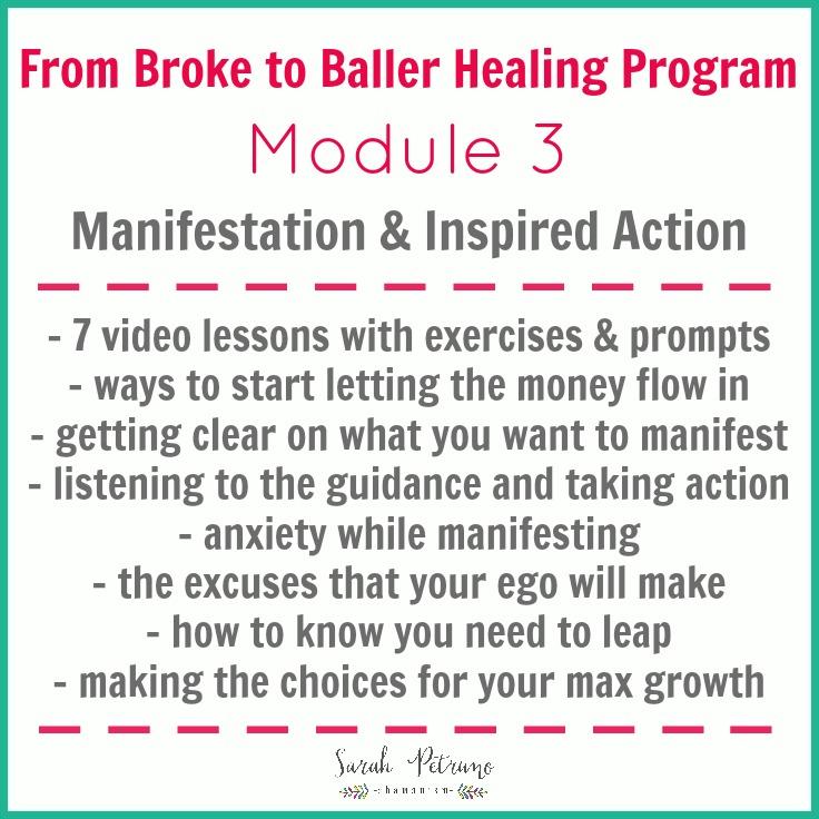 From Broke to Baller Healing Program Module 3