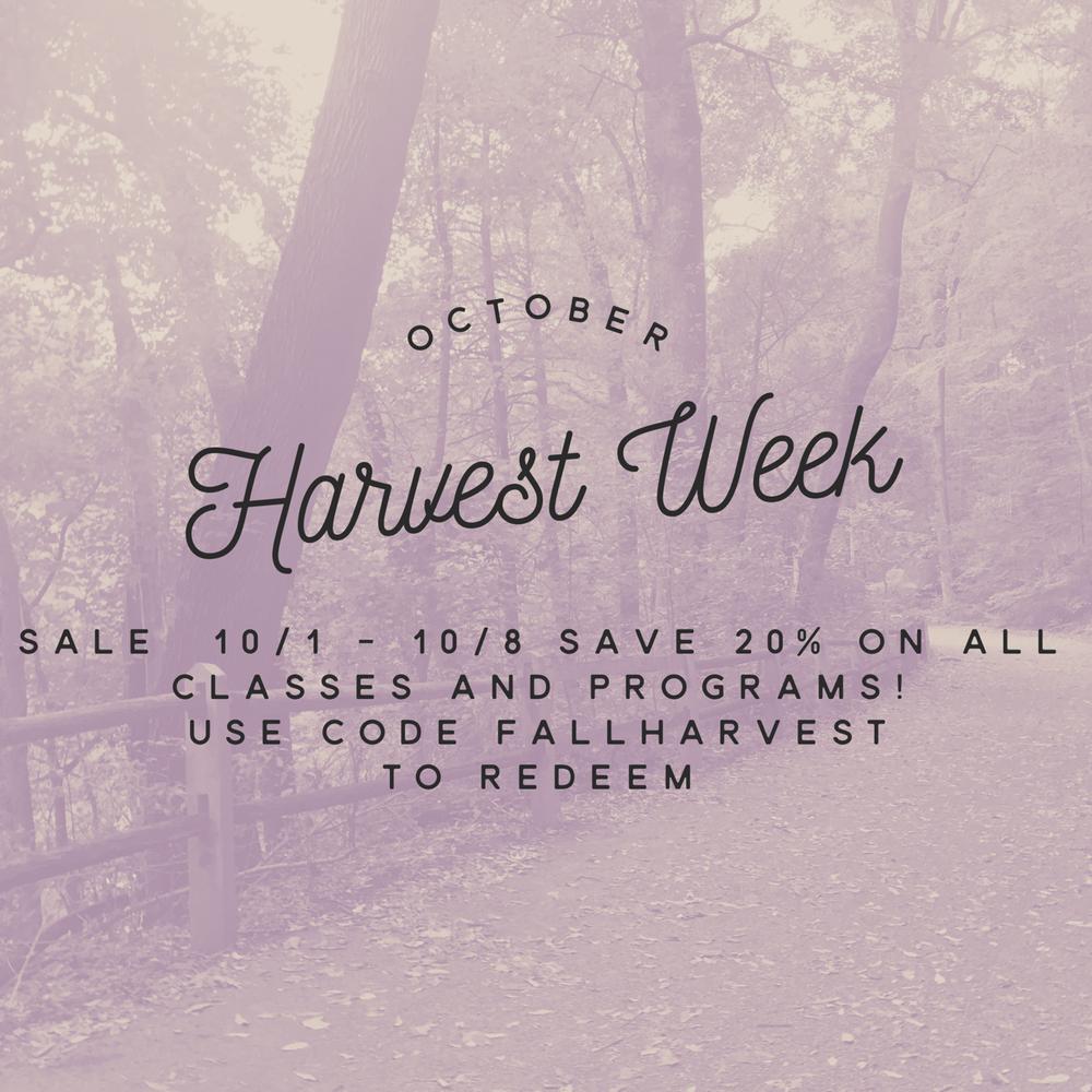 Harvest Week Sale