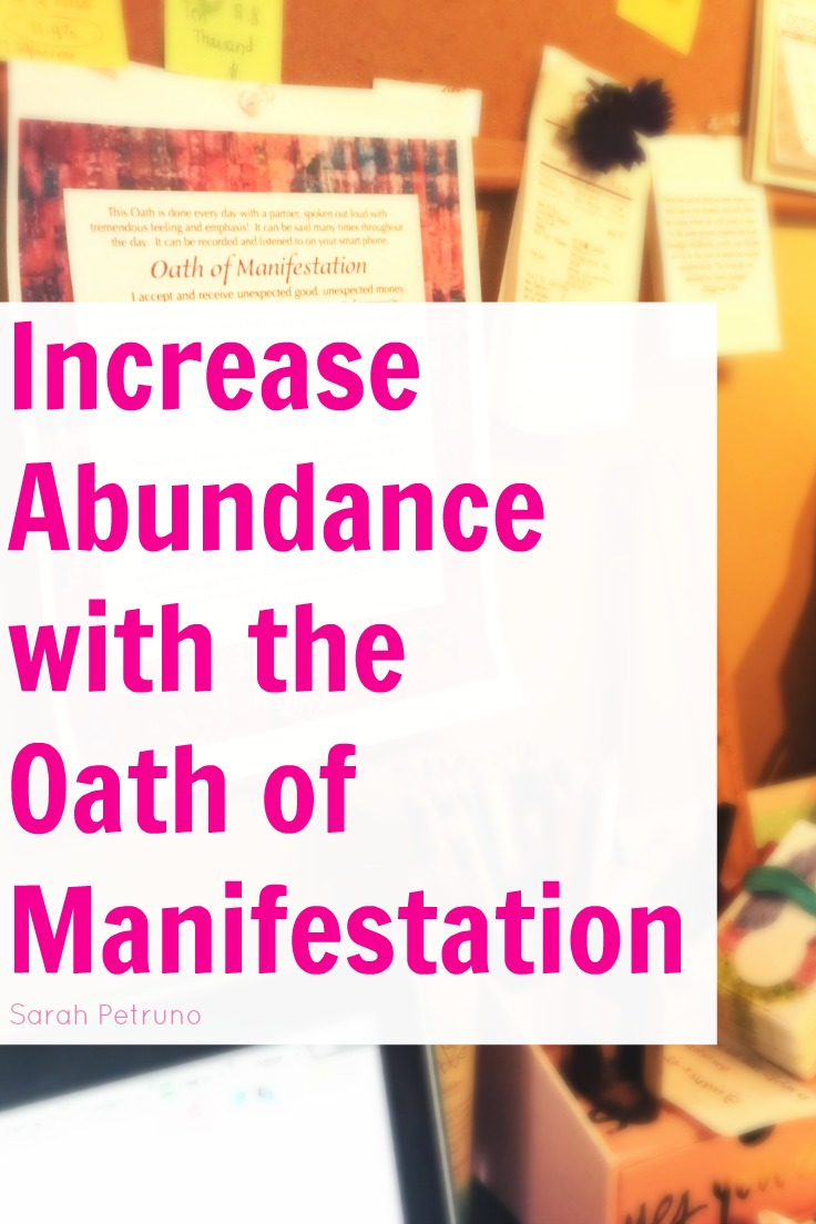 My method for using the Oath of Manifestation to increase financial abundance