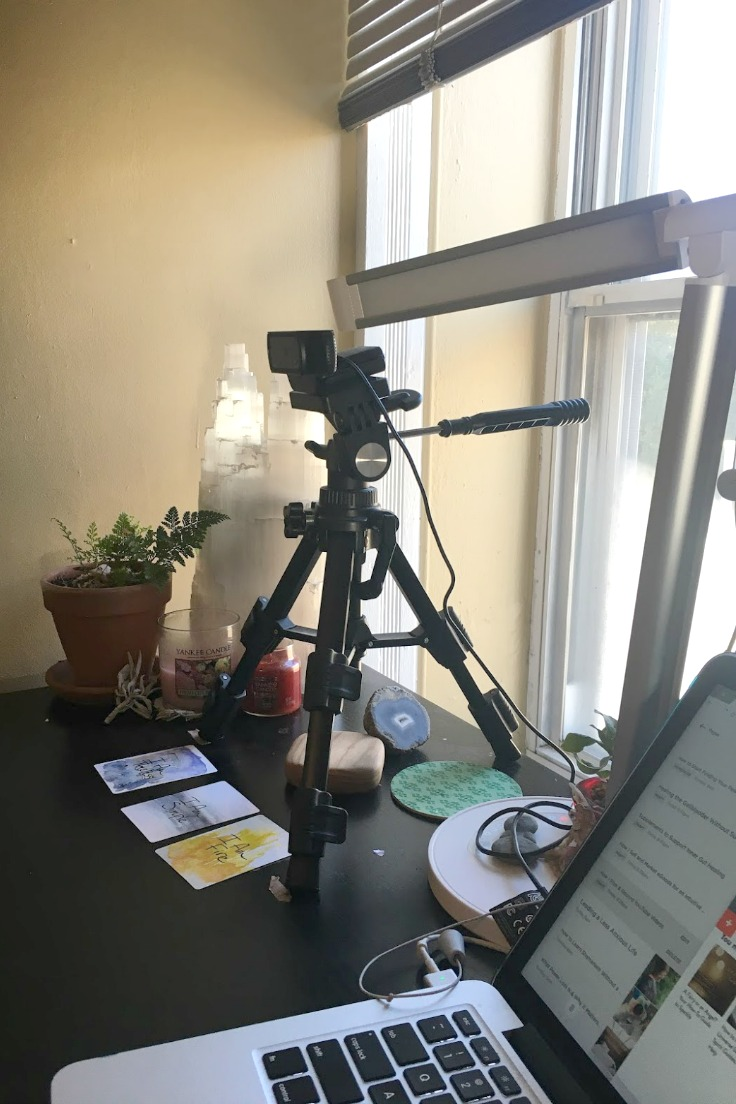 Camera and Lighting for YouTube filming. Cards pictured are from the I Am Power Deck by Love Light and Legacy. Use code IAMFREE for free US and international shipping!