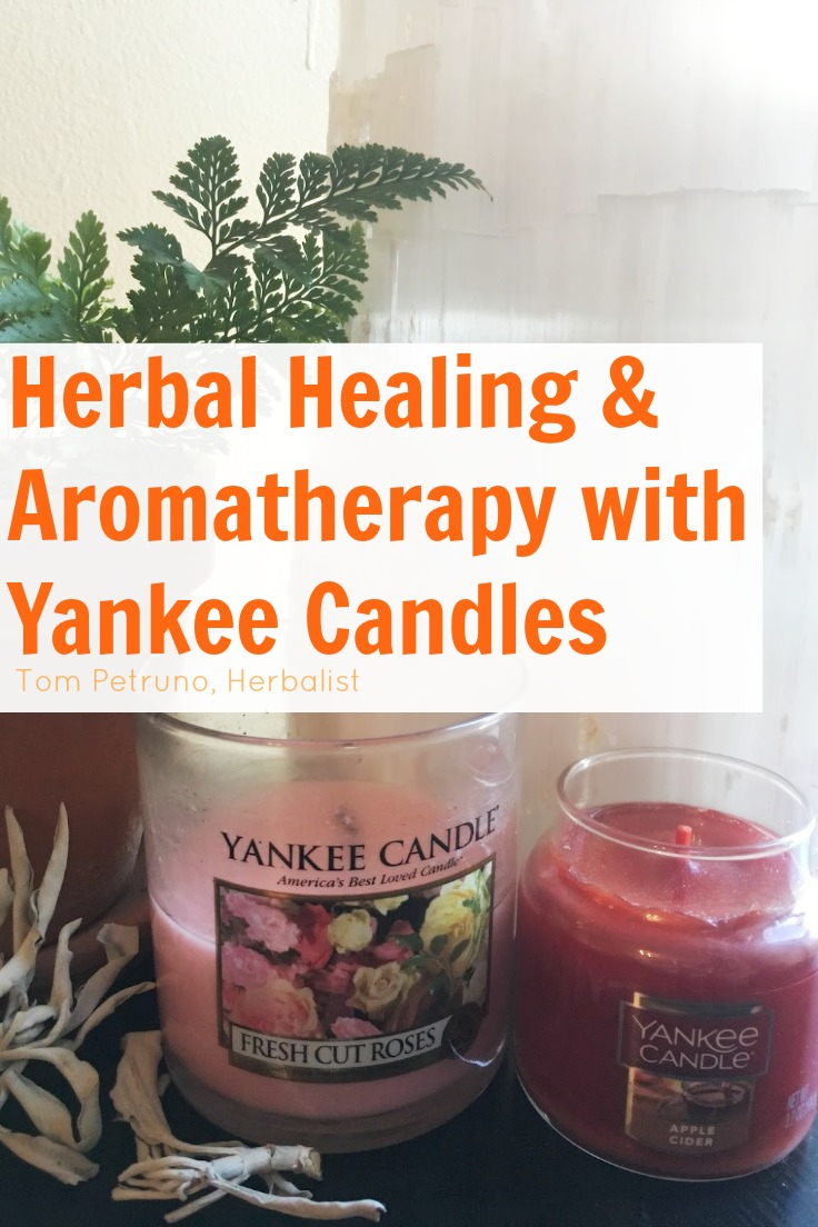 Herbal healing properties of candles - select Yankee Candles with herbal and floral essences and oils