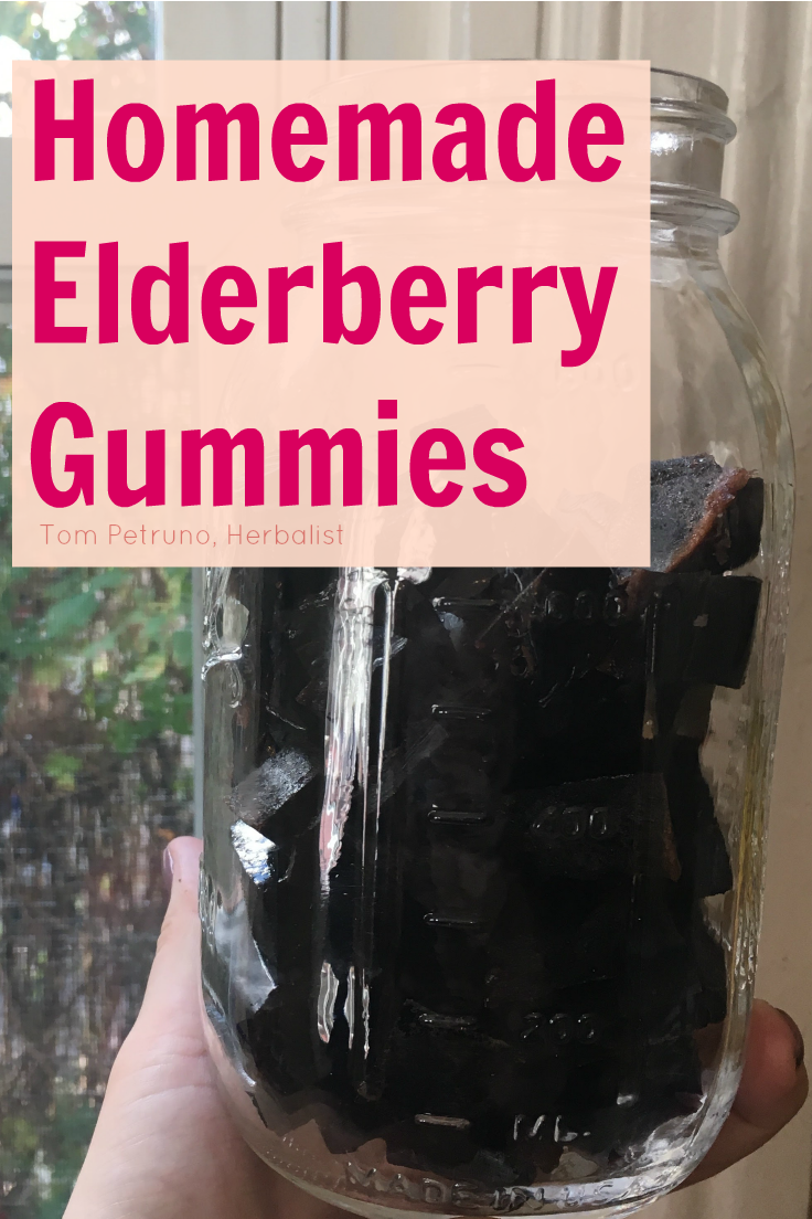 Recipe for making your own elderberry gummies