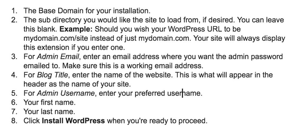 Instructions for Installing WordPress on HostGator