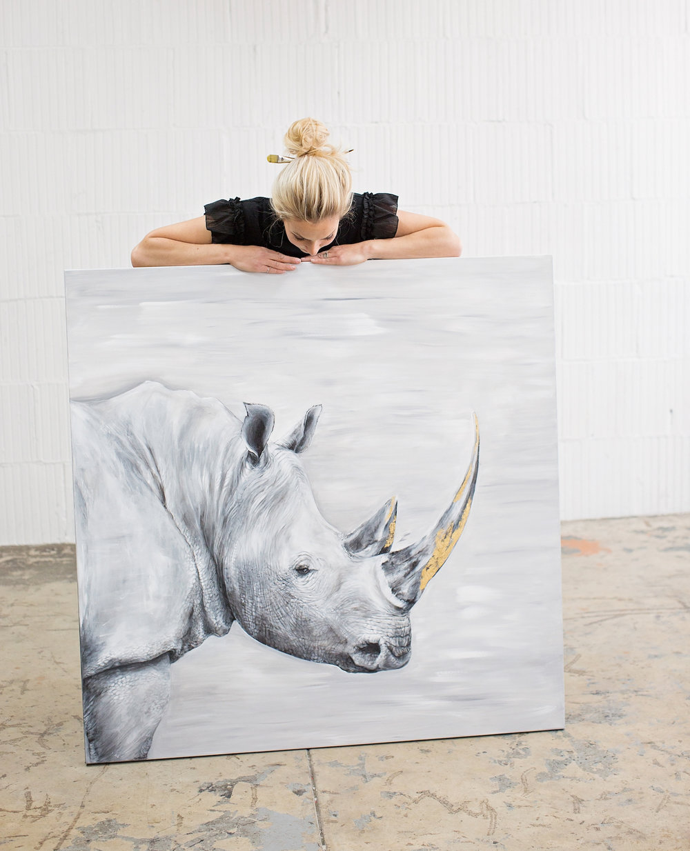 aliarmstrong_White rhino painting