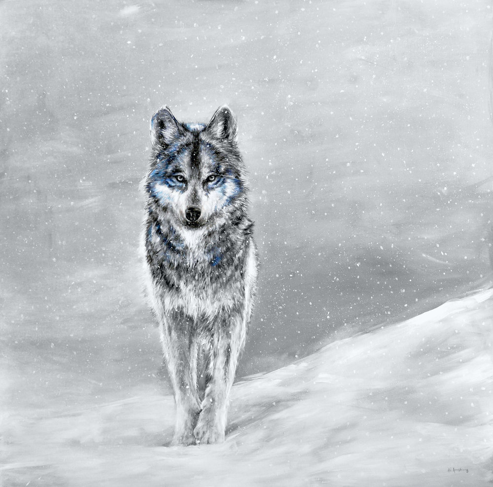 Gray Wolf painting by Ali Armstrong