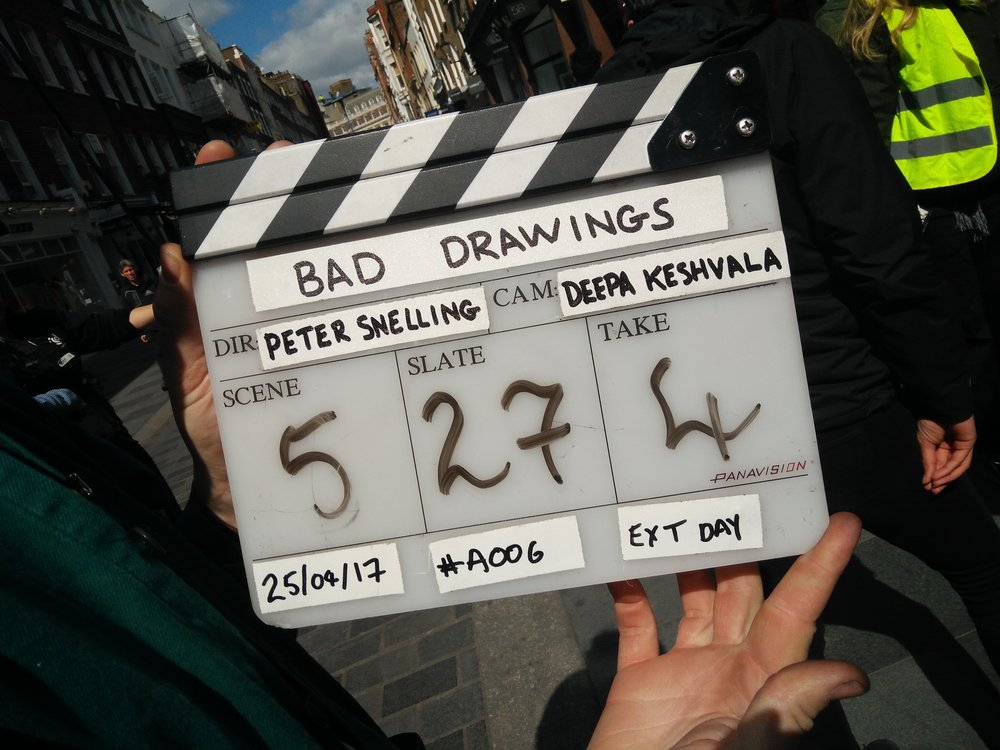 Shoot Begins for BAD DRAWINGS Short Film - Directed by Peter Snelling, the short film is a pilot for the feature film in development.The short stars Olivier winner Anthony Boyle, Rizzle Kicks' Jordan Stephens and Three Girls star Ria Zmitrowicz