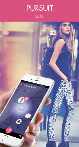 A mobile App that helps you target garments or accessories in real time based on location and form an interactive platform of street fashion